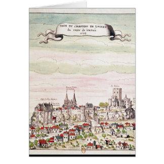 Cartes Vue du château de Loches, 1699