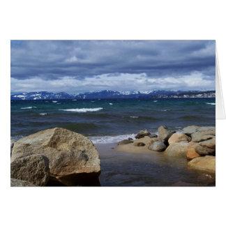 Cartes Vue du lac Tahoe en hiver