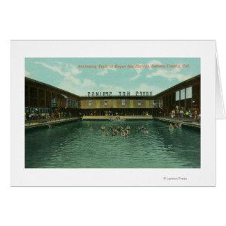 Cartes Vue du réservoir de natation