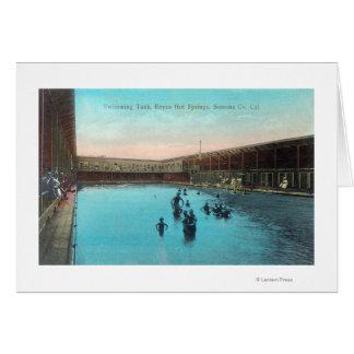 Cartes Vue du TankBoyes de natation Hot Springs, CA