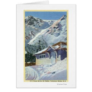 Cartes Vue d'un abri de ski de Service Forestier des USA