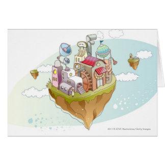 Cartes Vue d'une illustration abstraite colorée