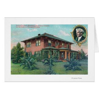 Cartes Vue extérieure de résidence de Luther Burbank