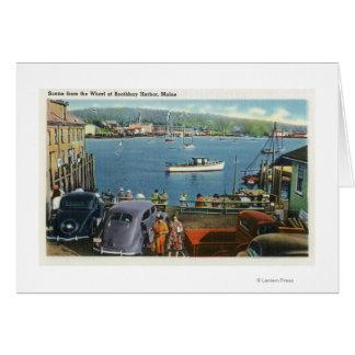 Cartes Vue pittoresque du quai, des bateaux et des