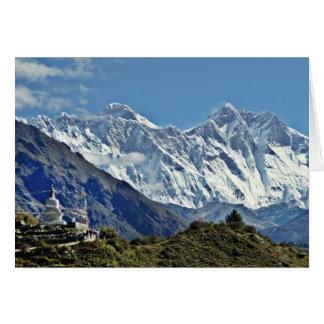 Cartes Vues du Népal sur le chemin au MONT EVEREST
