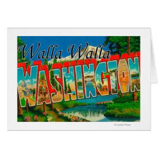 Cartes Walla Walla, Washington - grandes scènes de lettre