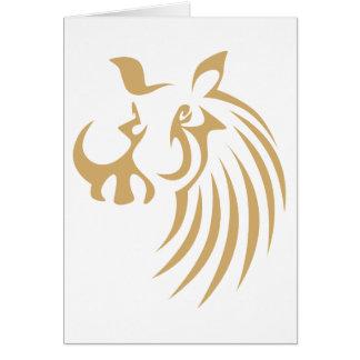 Cartes Warthog dans le style chic de dessin