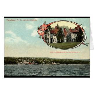 Cartes Washington Irving, Tarrytown, cru c1915 de NY