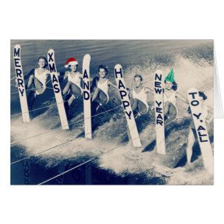 Cartes Waterskiiers apportant l'acclamation de vacances !