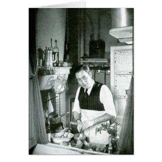 Cartes Watt d'Alexandre dans une cuisine, les années 1950