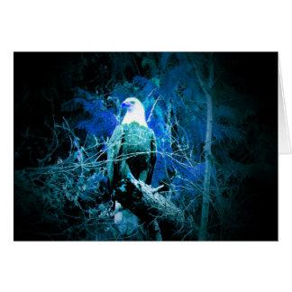 Cartes Weis-aigle bleu dans la nuit