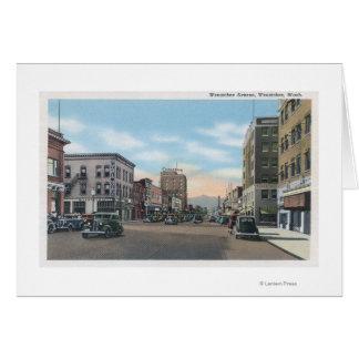 Cartes Wenatchee, scène d'avenue de WashingtonWenatchee #