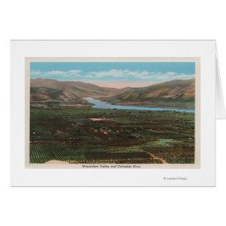 Cartes Wenatchee, WAView de vallée et fleuve Columbia
