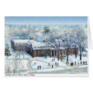 Cartes Wesley Hall en hiver, note d'université d'Albion