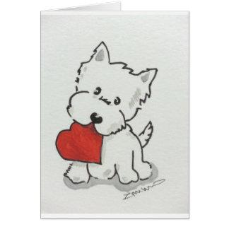 Cartes Westie avec le coeur