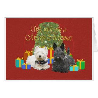 Cartes Westie et Noël de Scottie Joyeux