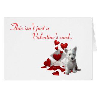 Cartes Westie Valentine, soit le mien