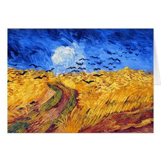 Cartes Wheatfield avec des corneilles, Van Gogh