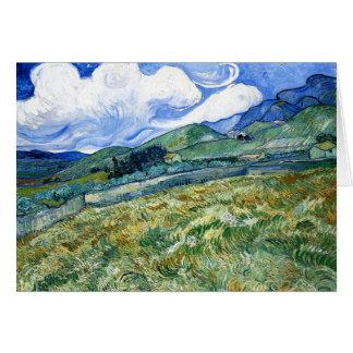 Cartes Wheatfield et montagnes, Vincent van Gogh
