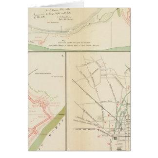Cartes Wilmington, pi Caswell, l'île de Smith, Augusta