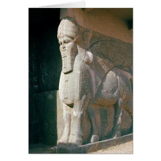 Cartes Winged humain-a dirigé le taureau, période