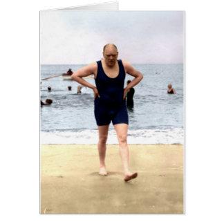 Cartes Winston Churchill au bord de la mer