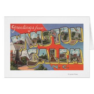 Cartes Winston-Salem, la Caroline du Nord