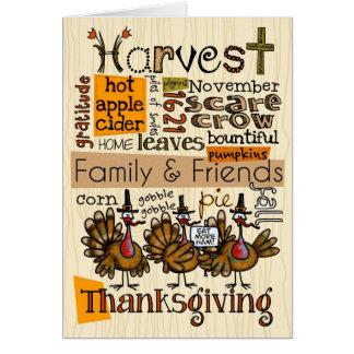 Cartes Wordcloud de thanksgiving