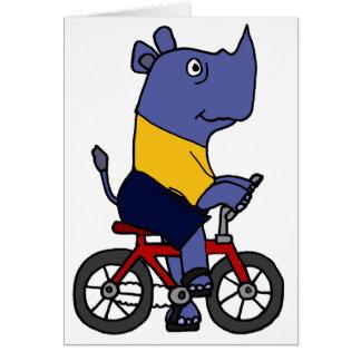 Cartes XX bande dessinée drôle de bicyclette d'équitation