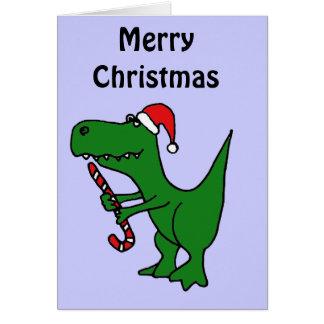 Cartes XX dinosaure drôle de T-rex utilisant le casquette