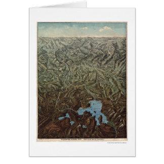 Cartes Yellowstone Pacifique du nord 1895