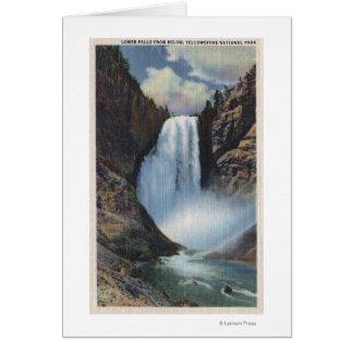 Cartes Yellowstone, WYLower tombe de dessous la vue