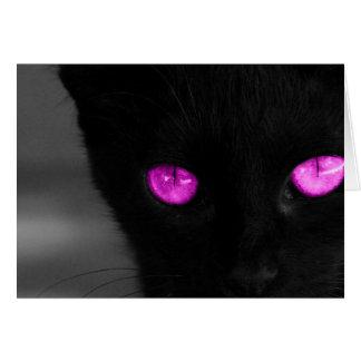 Cartes Yeux de pourpre de chat noir de BPUR