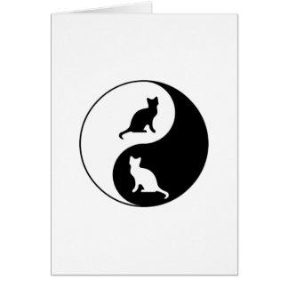 Cartes Yin et chat de Yang