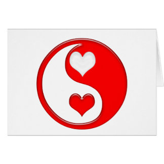 Cartes Yin et coeurs de Yang Valentine