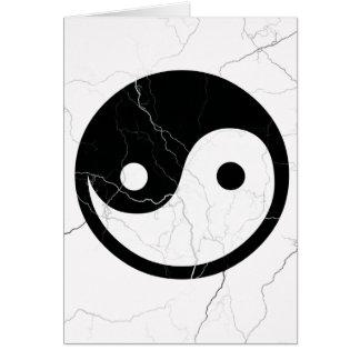 Cartes Yin noir et blanc et Yang