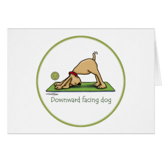 Cartes Yoga - chien orienté vers le bas
