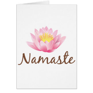 Cartes Yoga de fleur de Namaste Lotus