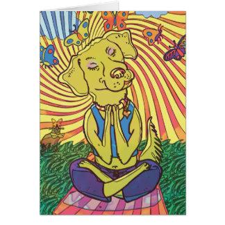 Cartes Yoga Namaste de chien