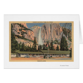 Cartes Yosemite, vue de CA de loge et d'automnes de