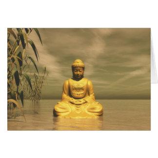 Cartes Zen Bouddha méditant