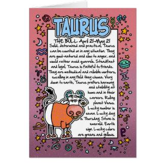 Cartes Zodiaque - anecdotes amusantes de Taureau