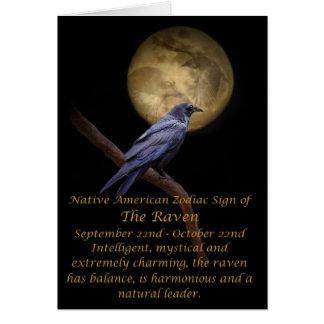Cartes Zodiaque de Natif américain Raven