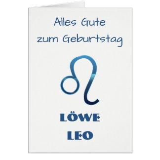 Cartes Zodiaque Geburtstag de Blau Löwe Lion