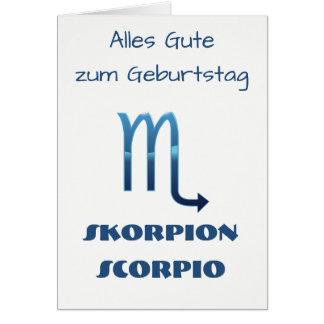 Cartes Zodiaque Geburtstag de Blau Skorpion