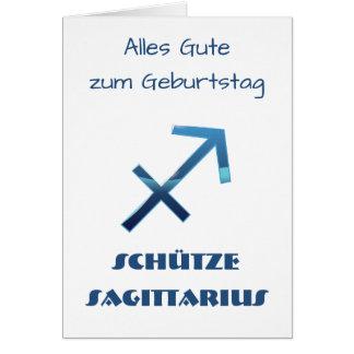 Cartes Zodiaque Geburtstag de Sagittaire de Blau Schütze