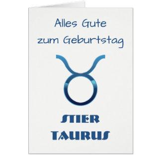 Cartes Zodiaque Geburtstag de Taureau de Blau Stier
