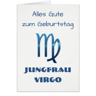Cartes Zodiaque Geburtstag de Vierge de Blau Jungfrau