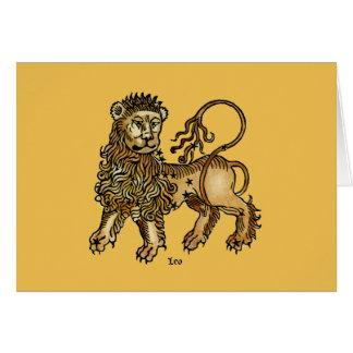 Cartes Zodiaque : Lion, 1482