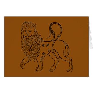 Cartes Zodiaque : Lion, 1494